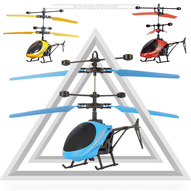 Kids Mini RC Drone Fly RC Helicopter LED Light Remote Control Toys Aircraft Suspension Induction Helicopters Toys for Children