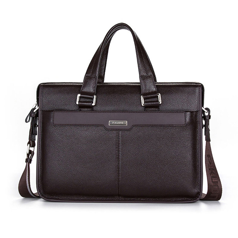 Men Cowhide Travel Shoulder Bag Student Crossbody Courier Large Capacity Briefcase Laptop Pack Bag jacodel business large crossbody 15 6 inch laptop briefcase for men handbag for notebook 15 laptop bag shoulder bag for student