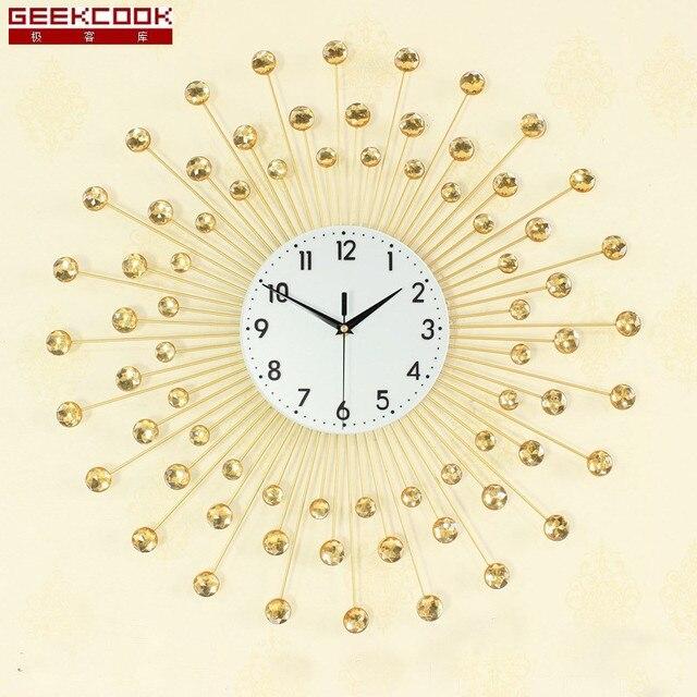 Geekcook Europa Große Wanduhr Moderne Design Wohnzimmer/Studie Stumm Wand  Uhr Dekoration Digitalen Uhren Wand
