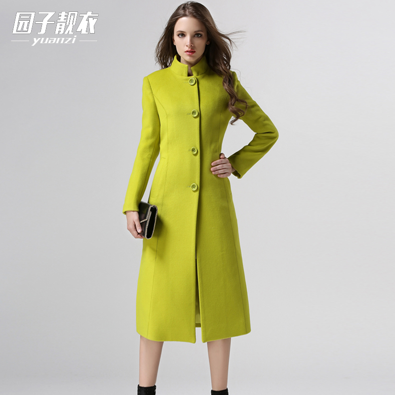 Nouvelle Laine Cachemire light En Automne De Taille red Femmes Montant Hiver gray Long Mode Grande Green Black 2019 Pardessus Classique Col Femelle Manteau Europen UExnT8qq1