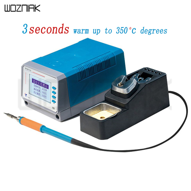 LEISTO T12 11 75W 220V Lead Free Soldering Station Digital Welding Station For Phone IPad Table PCB Mainboard Repair