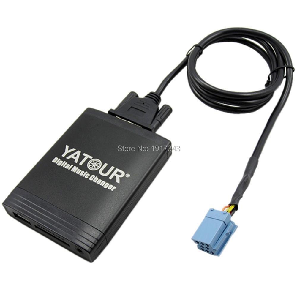 Yatour Автомобильный цифровой CD музыкальный адаптер USB MP3 AUX адаптер для Renault VDO/Blaupunkt quadlock 12pin fakra 2009 + YT M06 MP3 адаптер - 3