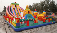 2016 Commercial PVC Inflatable Slide Outdoor Playground Inflatable Bouncer With High Quality For Sale