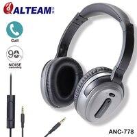 מותג ANC פעיל ביטול רעש אוזניות אוזניות עם מיקרופון סטריאו לכל הטלפון הנייד נגן MP4 MP3 iPhone Xiaomi