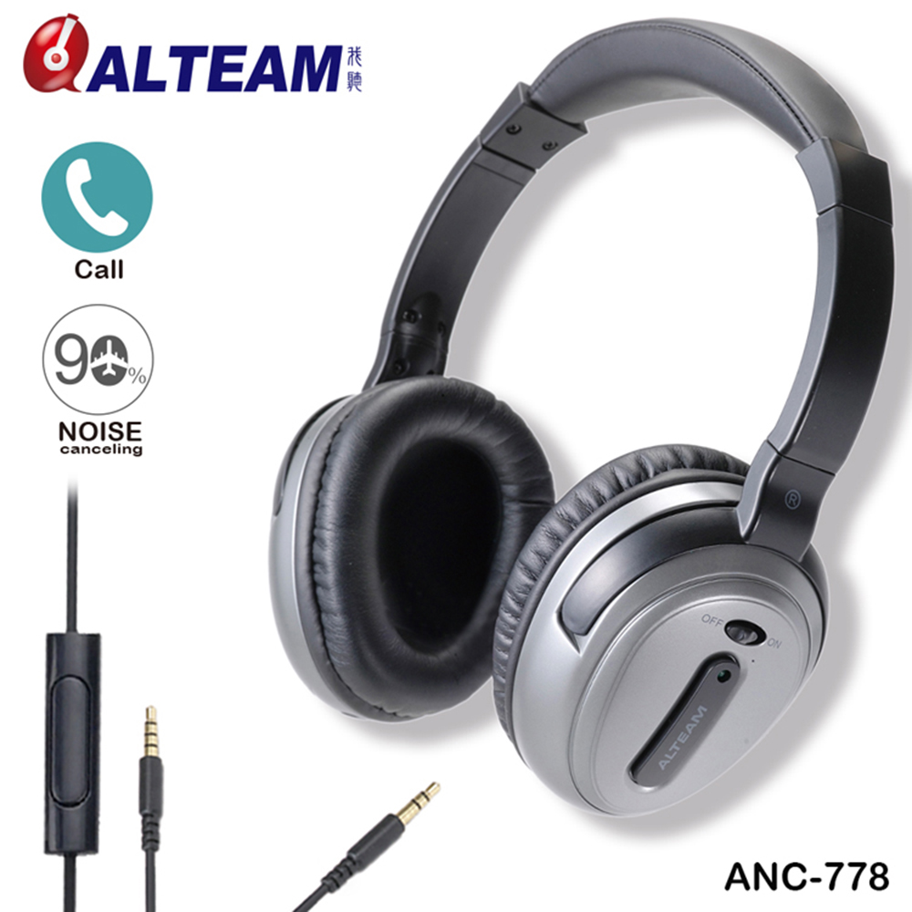 Brand ANC Active Noise Canceling Headphones Headset with Microphone Stereo for all mobile phone iPhone Xiaomi MP3 MP4 Player superlux hd 562 omnibearing headphones noise canceling monitoring rotatable