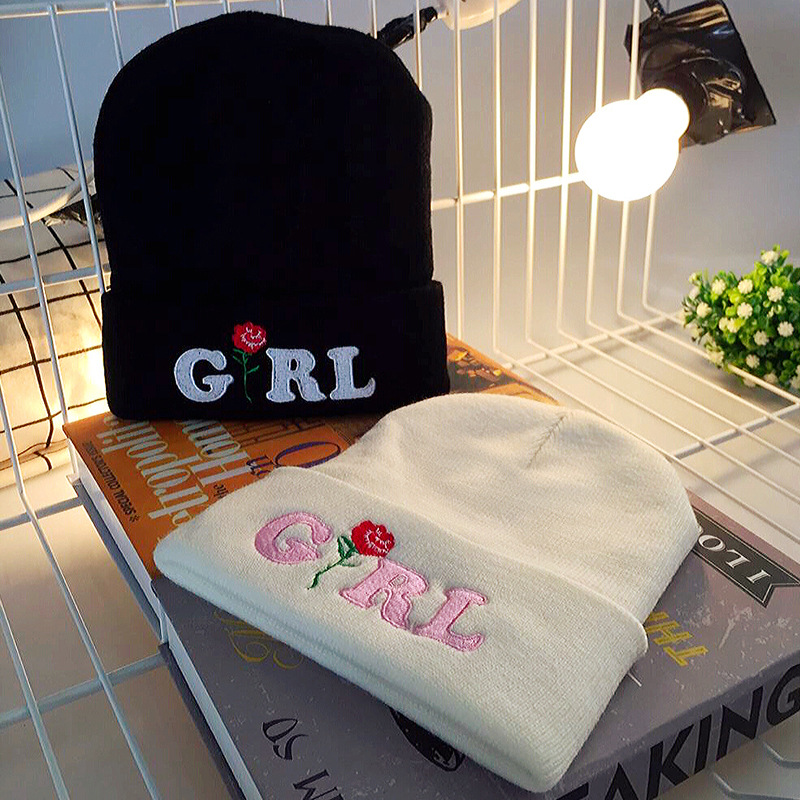 Fall and Winter Men and Women's WEIRD Embroidery Knitted Wool Warm Elastic Beanies Hat Hip-Hop Skullies Ski Cap RX143