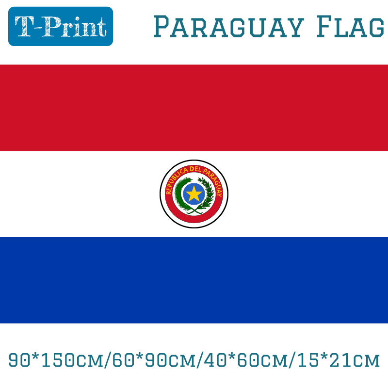 9de738eeb7d7 90 150 cm 60 90 cm 40 60 cm 15 21 cm Paraguay poliéster bandera 5   3FT