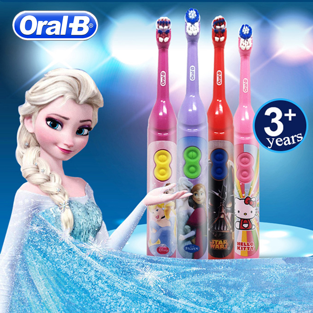 Oral B Sonic Toothbrush for Children Oral Care Kids Battery Power Rotating Tooth brush For Child 3+ image
