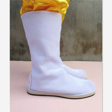 white ancient chinese boots dynasty swordsman cosplay soldier
