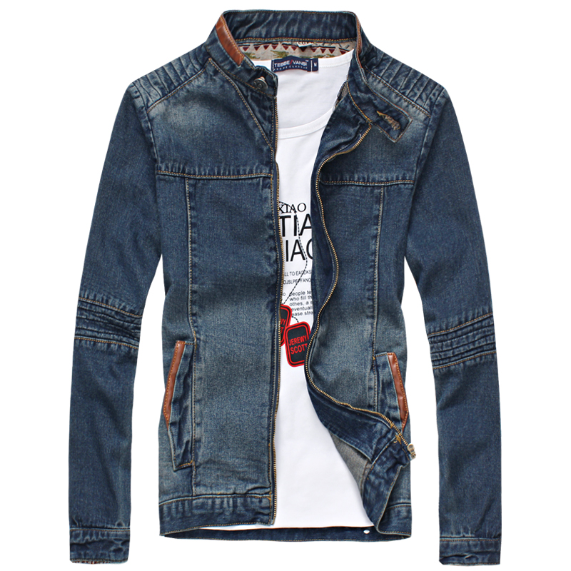 2017 new fashion men denim jacket slim fit casual jeans outwear M 5XL ACL149