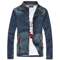 2016 New Fashion Men Denim Jacket Slim Fit Casual Outdoor Jeans Outwear M 5XL ACL149