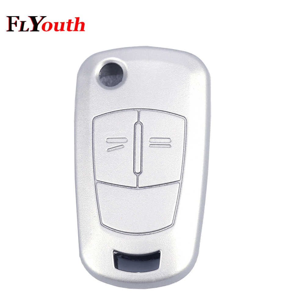Silicone Folding Flid Car Key Cover Case Fob For Vauxhall Opel Corsa Astra Vectra Signum 2 Button Silicone Remote Car Styling