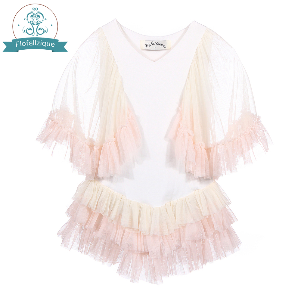 Batwing Sleeve Baby Girl Dress 2018 Summer Style ruffles Tulle Layers princess Party Dress For Toddler Kids Children Clothing ems dhl free shipping toddler little girl s 2017 princess ruffles layers sleeveless lace dress summer style suspender