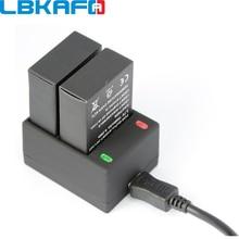 LBKAFA לgopro סוללה מטען AHDBT 301 302 כפולה 2 סוללה USB מטען עבור Gopro Go Pro Hero 3 Hero3 אבזרים
