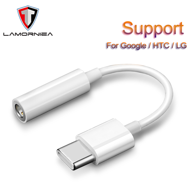 Lamorniea Type-C To 3.5MM Headphone Jack Adapter DAC Chip For Google Pixel 2 Nexus HTC U11 U12 OPPO LG USB-C Digital To 3.5 MM