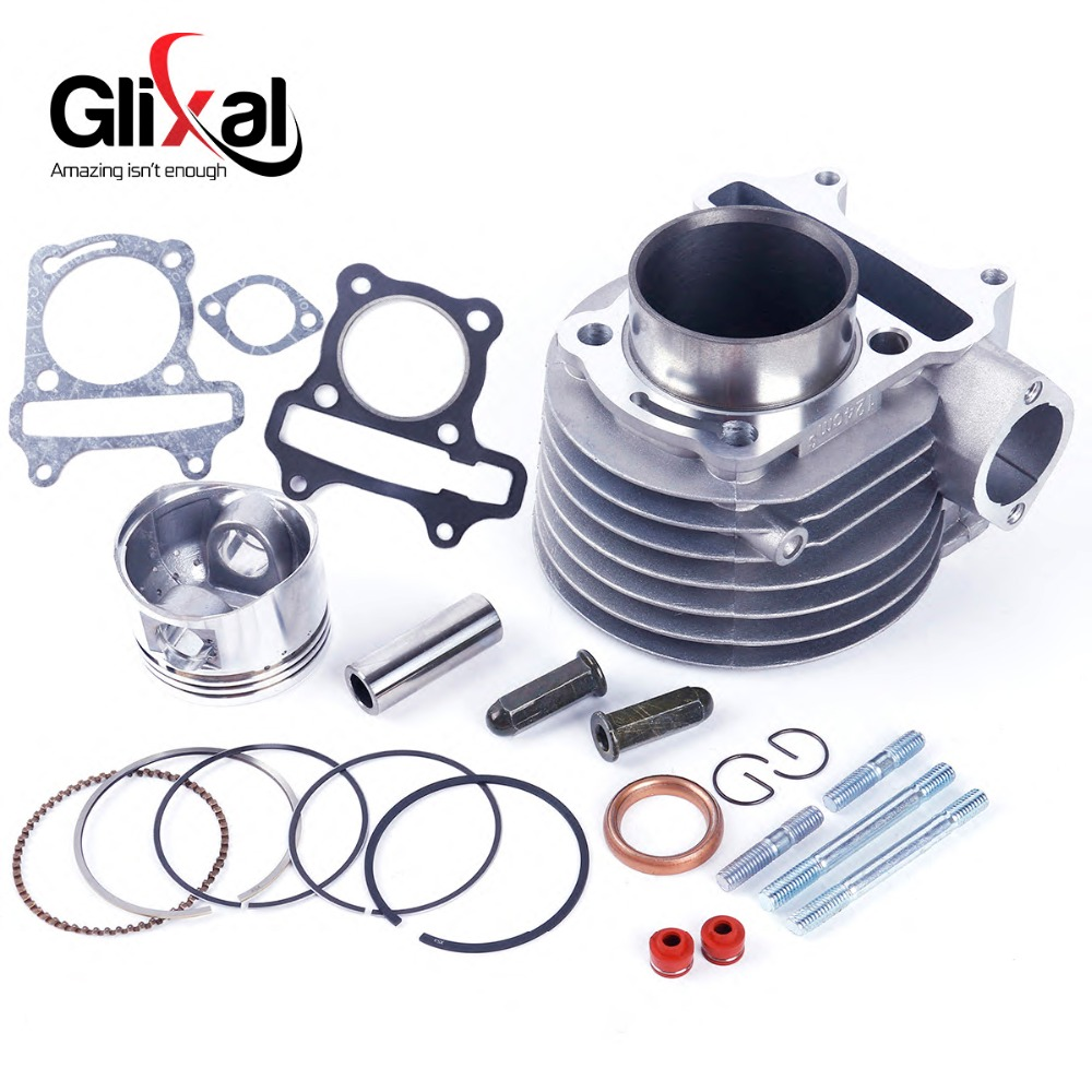 KIMISS Motorcycle Cylinder Piston Ring Gasket Kit Engine Cylinder Piston Kit for GY6//125CC//150CC//152QMI