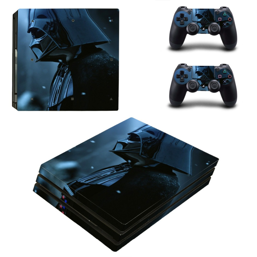 Ps4 PRO Console Skin Decal Sticker Star Wars + 2 Controller Skins Set