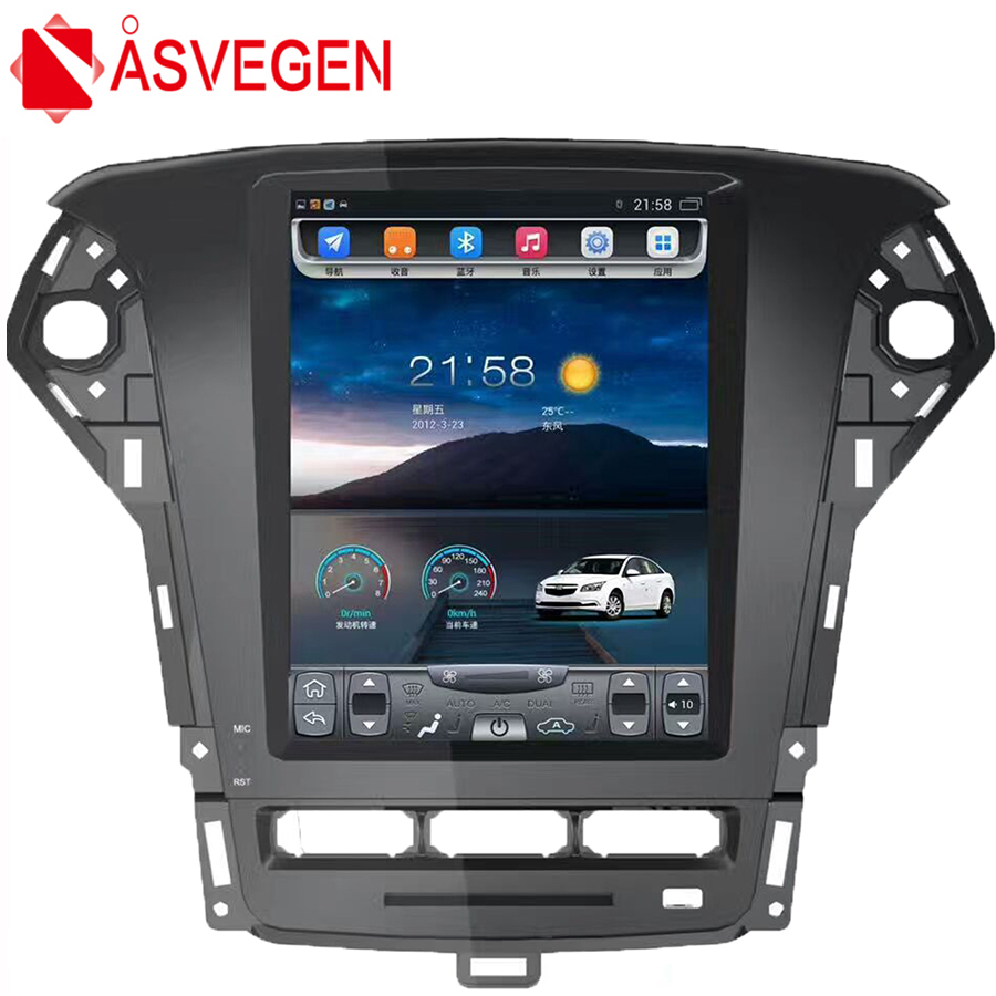Asvegen For Ford Mondeo 2011 2012 2013 10.4 Vertical Screen Android 6.0 Car DVD GPS Navigation Stereo Radio Multimedia Player