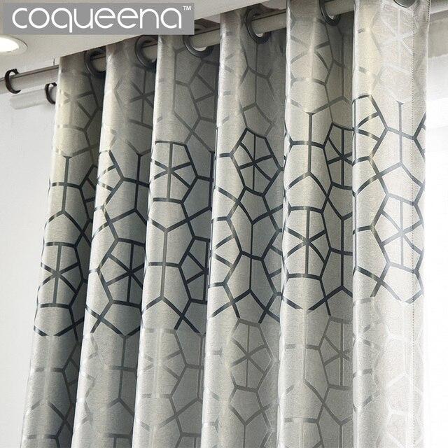 Moderne Dicken Wildleder Geometrische Vorhänge Für Wohnzimmer Schlafzimmer  Benutzerdefinierte Fertige Fenster Vorhang Vorhänge Grau Burgund 85
