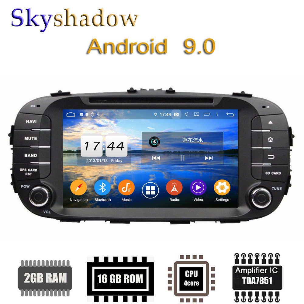 TDA7851 Android 9.0 For Kia SOUL 2014-2016 Quad Core 2G Ram Bt WIFI GPS GLONASS Peta DVR kamera Belakang OBD TV Mobil Dvd Player Radio