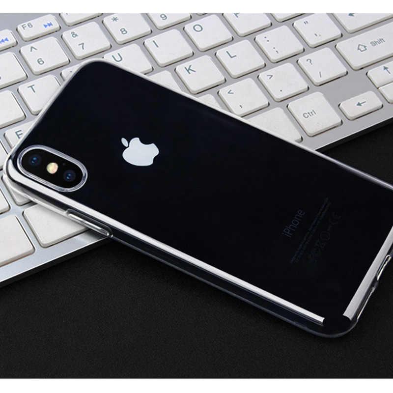 حالة ل فون 7 6 6 s 8 X زائد واضح لينة TPU حالة سيليكون واقية كم غطاء شفاف ل فون 6 5 S 4 4 S عودة قذيفة