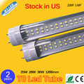 25W 28W 36W Double Row T8 Led Tube 1200mm G13 base SMD 2835 220V 110V led Lighting lamp 2 years warranty free shipping