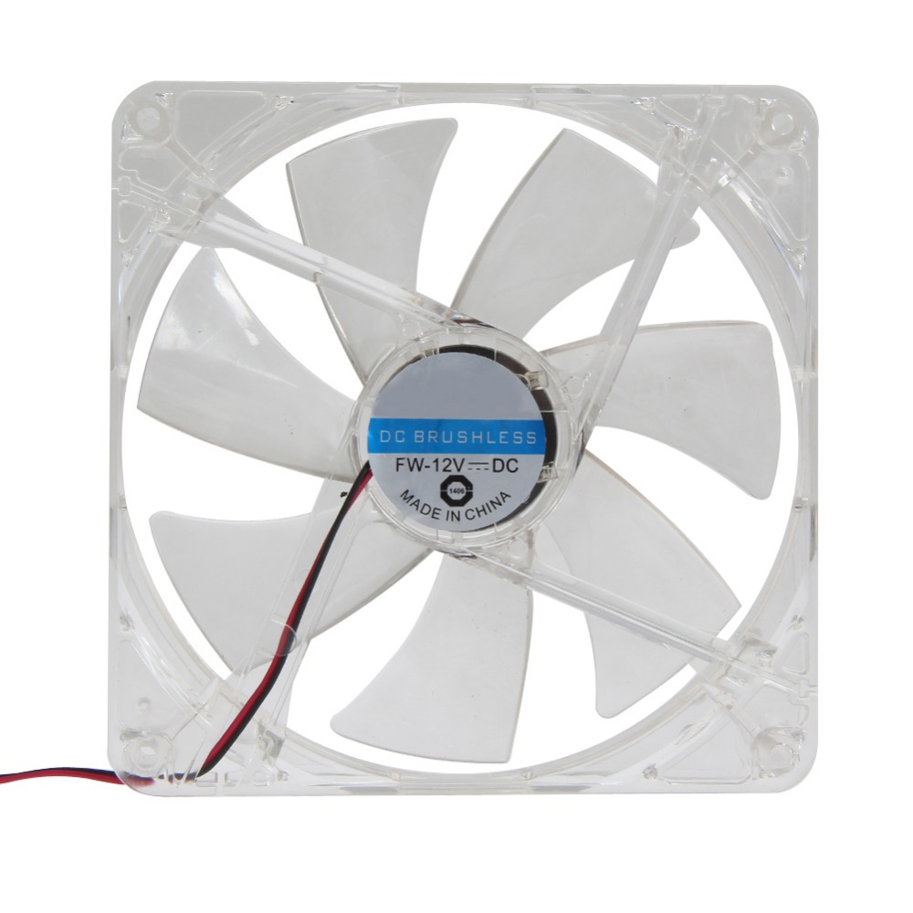<font><b>120</b></font>*<font><b>120</b></font>*25mm RED LED DC 12V <font><b>4Pin</b></font> Computer PC Case Heatsink <font><b>Cooler</b></font> CPU Cooling LED Fan image