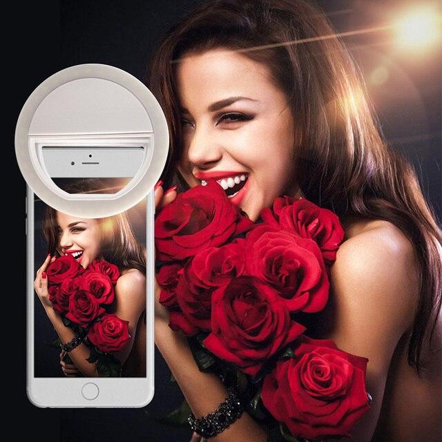 Fotografía Selfie anillo de luz para teléfono portátil Flash Led anillo de luz Cámara teléfono mejora Luz de fotografía para iPhone Xiaomi