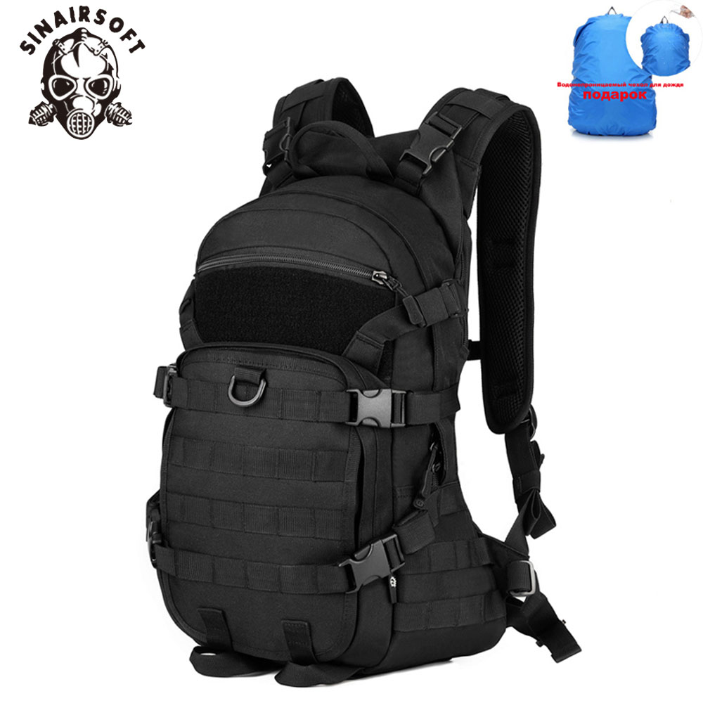 SINAIRSOFT Outdoor Military Tactical Backpack Trekking Sport Travel 25L Nylon Camping Hiking Trekking Camouflage Bag LY0062 tactical outdoor nylon mobile phone bag for iphone 5 camouflage