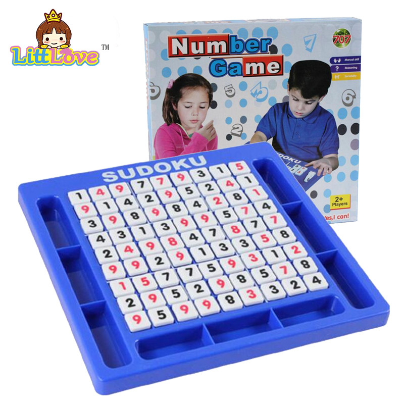 LittLove Sudoku Bulmacalar Uşaqlar üçün kub nömrəli oyun Böyüklər üçün riyaziyyat oyuncaqları Yapboz Puzzle masa oyunu Uşaqlar təhsil oyuncaqları öyrənir