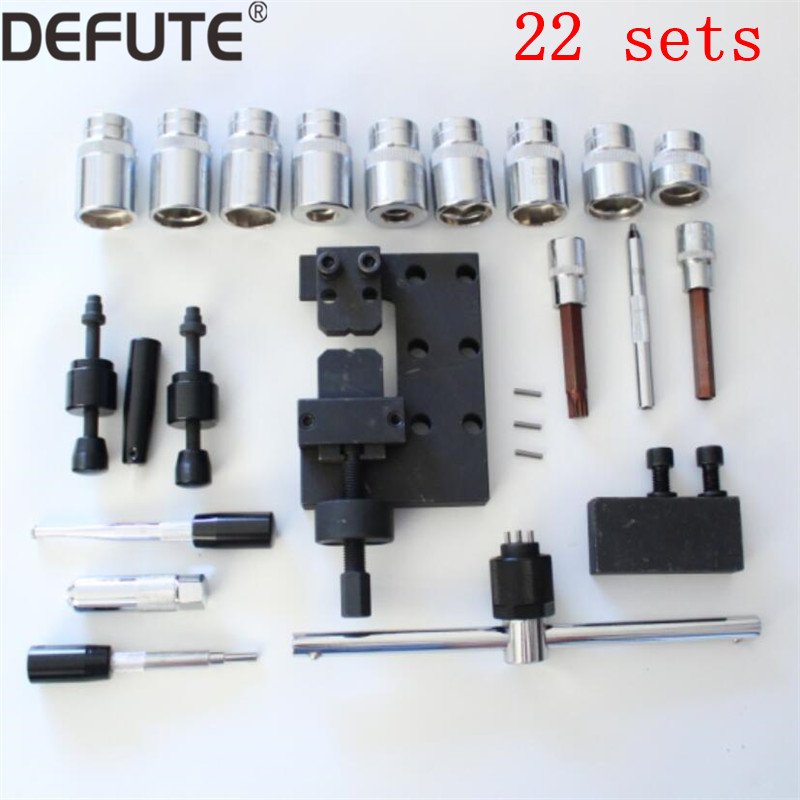 22 kits diesel common rail injector disassemble tools set for bosch denso, injector dismounting tools diesel injector seal kit cutter cdi special tools injector seat injector