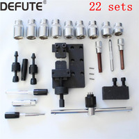 22 kits diesel common rail injector disassemble tools set for bosch denso, injector dismounting tools