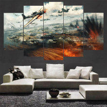 Canvas Painting Wall Art 5 Piece For HD Print modern warfare Living Room