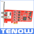 TBS6704 ATSC/Clear QAM Quad Tuner PCIe Card for Receiving North American/South Korea ATSC, 8VSB and Clear QAM cable TV on PC