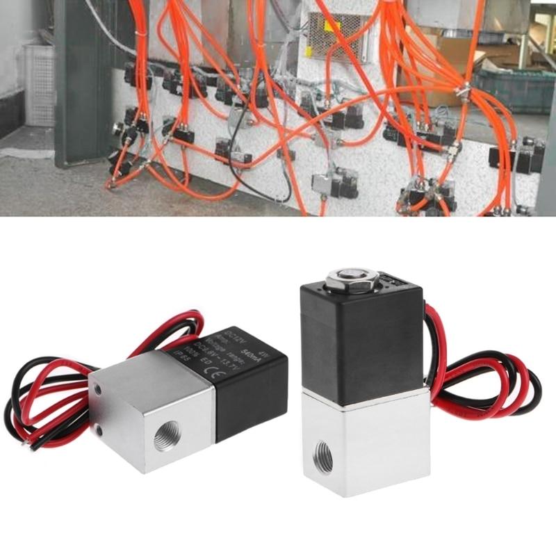 """Нормально закрытый Соленоидный клапан 12 V DC 1/8 """"w/Wire для воды газа воздуха"""