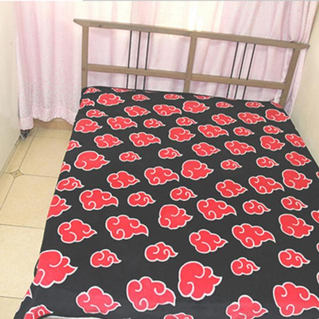 Naruto Red Cloud Coral Fleece Blanket