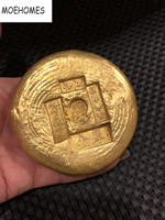 Randomly send 1pcs china antique collectibles gold bar Bullion,gold ingot COINS Family decor gifts metal crafts COINS