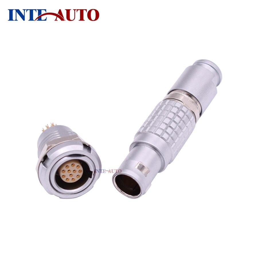 Substitut LEMOs ODUs M12 12 Broches Connecteur, métal électrique mâle femelle plug socket, FGG.1B. 312 ECG.1B. 312, Push pull connecteur