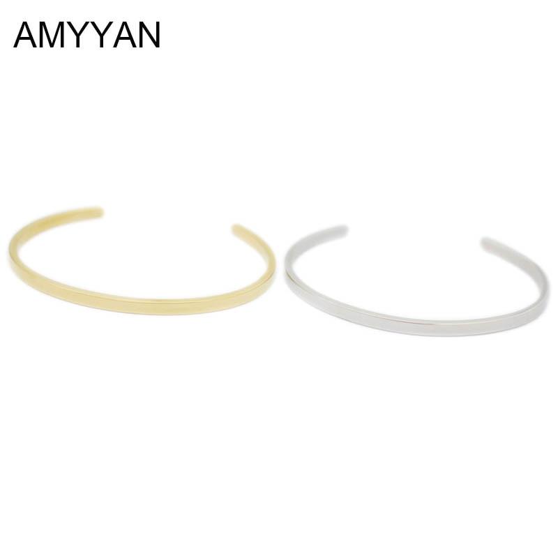 Fashion 316L titanium steel gold color Carter bracelet bangle custom cuff bracelets pulseiras steel gold women bangles