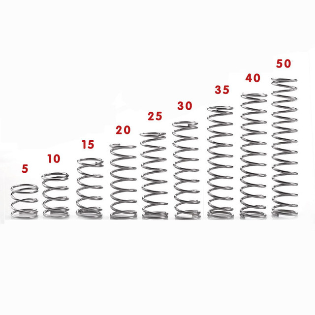 10pcs 06mm wire diameter 7mm outside diameter stainless steel 10pcs 06mm wire diameter 7mm outside diameter stainless steel pressure spring compression springs 5mm greentooth Gallery