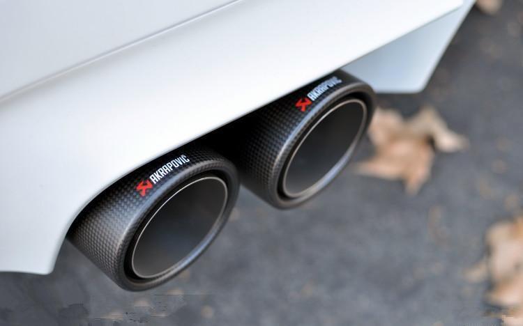 Introduceți 63 mm la ieșire 101mm Vârf de evacuare din carbon - Piese auto - Fotografie 4