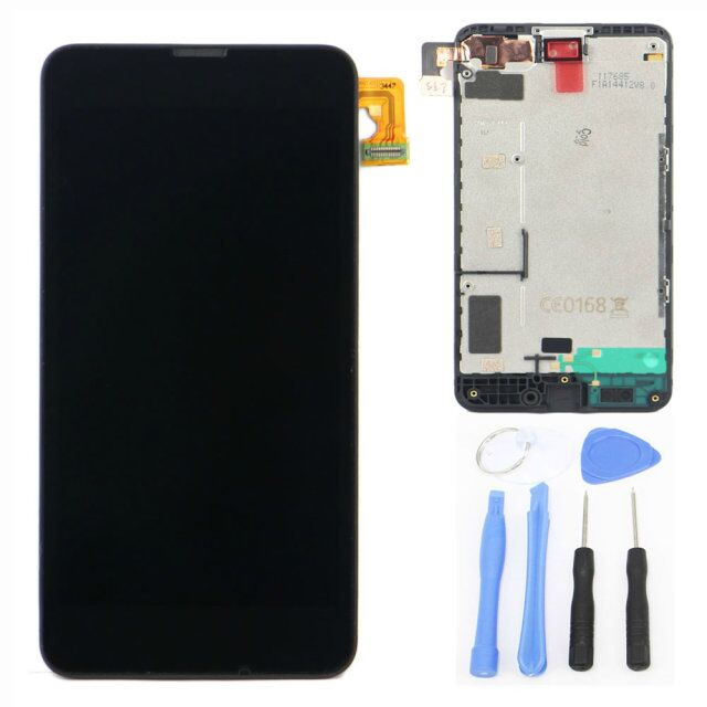 Подробнее о Display For Nokia Lumia 630  LCD Screen Replacement + Touch screen digitizer Assembly Full Part Without Frame +Free Tools new full black touch digitizer glass lcd display screen assembly with frame for nokia lumia 630 replacement