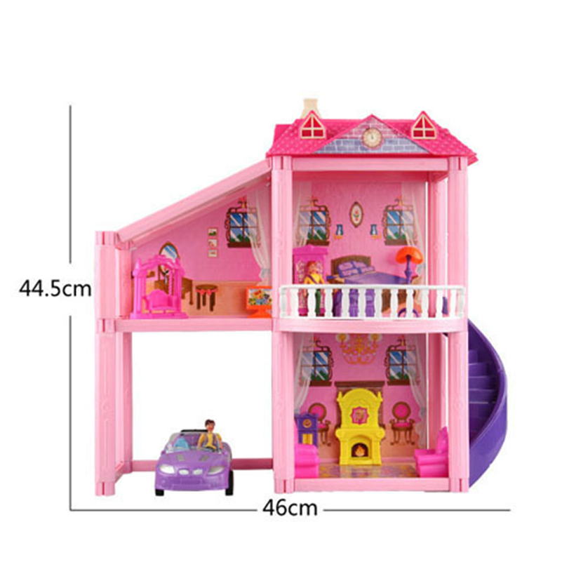 New DIY Dollhouse Toys for Girls Miniature Furniture Garage Car House Dolls Furniture Accessories Doll Children Kids Gift in Doll Houses from Toys Hobbies