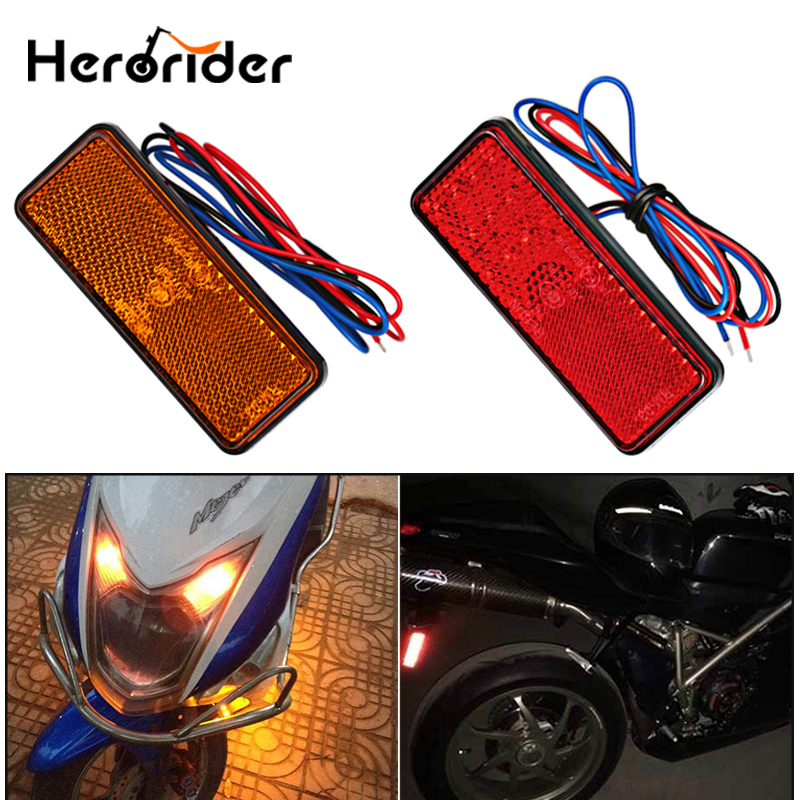 1 Pcs 12V Truck Motorcycle LED Reflector RearTail Brake Stop Warning Side Marker Light For Truck SUV Trailer Scooter Jeep