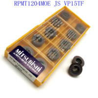 מחרטת cnc cnc חותך 20PCS RPMT1204 משרד החינוך VP15TF מפנה MO כלי קרביד הכנס RPMT 1204 כלי חיתוך כלי CNC מחרטת כלי מחרטת כרסום הפנים חותך (2)
