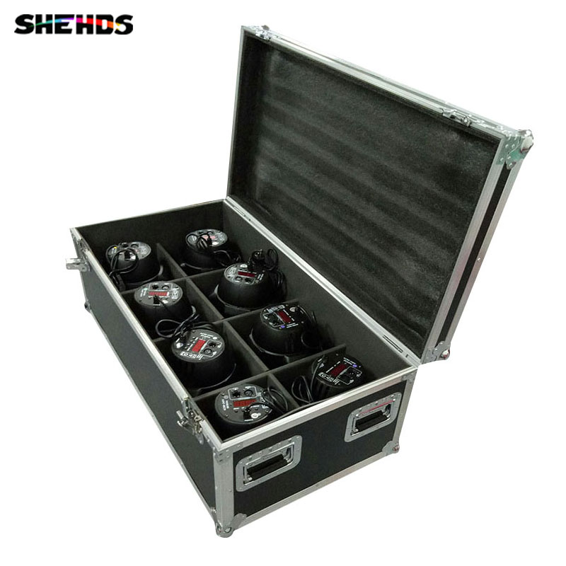 FlightCase With 2/4/6/8pcs LED Par C0B 100W RGBW 4IN1 Lighting Dmx Controll Christmas Decorations For Party Club DJ Theater