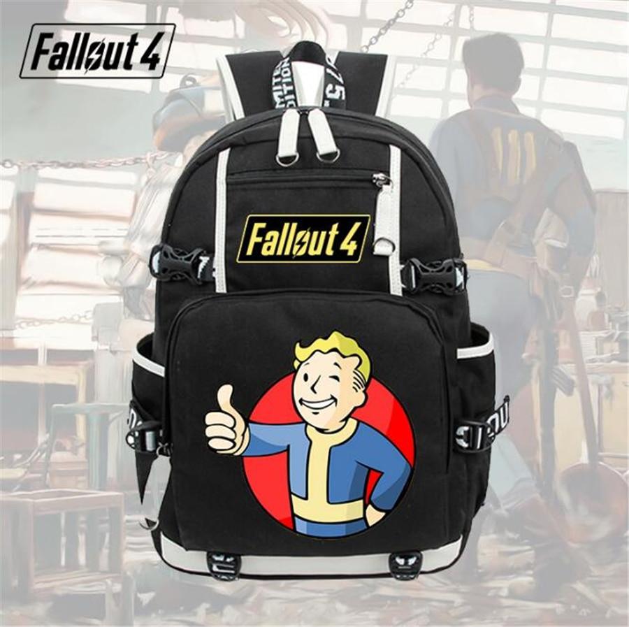 GAME Fallout cosplay backpack Student School Backpack men women bag Travel bag shoulder bag 5 style gravity falls backpack cosplay print men women bag school bag travel bag