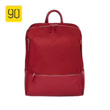 90FUN Fashion City Diamond Lattice Backpack Waterproof Bag Woman Girls for Commute School College Travel Trip, Red/Black