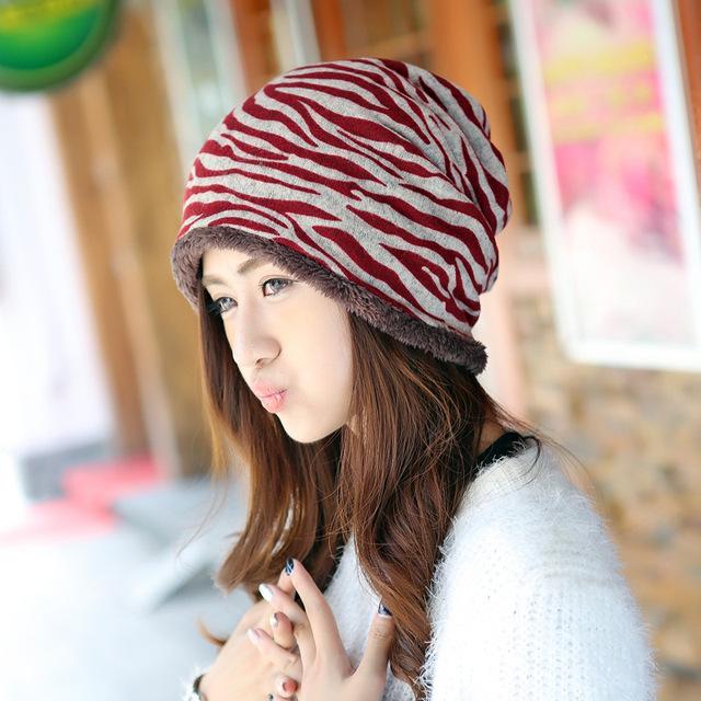 Alta qualidade de malha Skullies e gorros para mulheres quente grosso turbante chapéu Cap Gorro de inverno chapéus