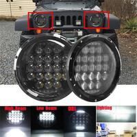 SUPAREE 2pcs 7 Inch LED Headlights 105W 5D Reflector Headlight H L Beam DRL Daytime Running